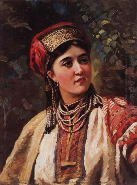 Woman In A National Costume