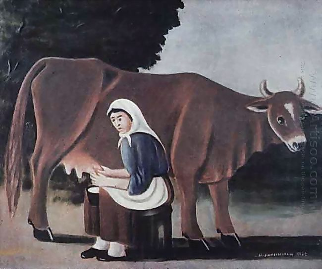 Woman Milks A Cow 1916