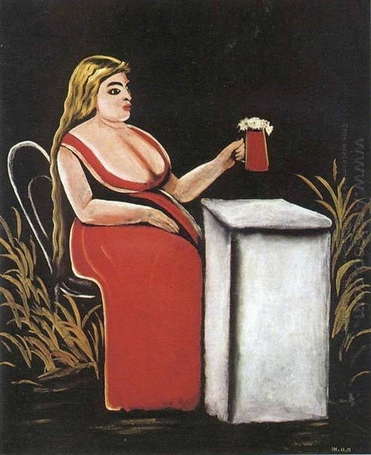 Woman With A Mug Of Beer