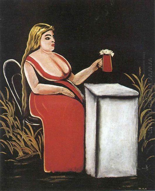 Woman With A Mug Of Beer