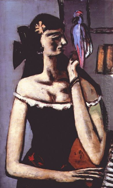 Woman With Parrot 1946