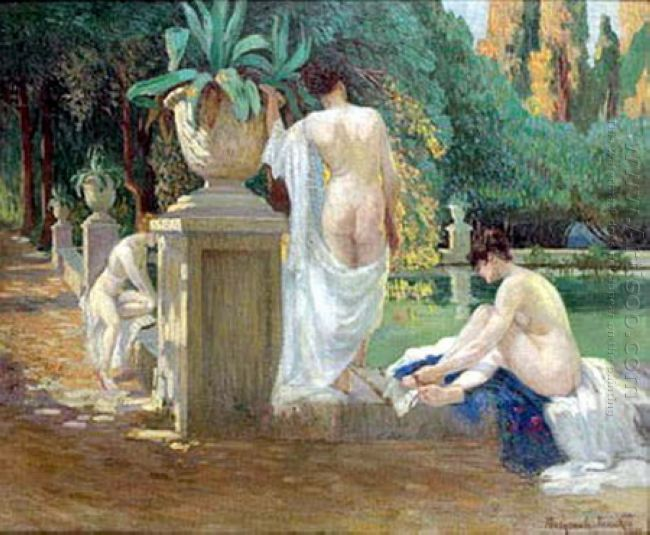 Women On The Pond Shore