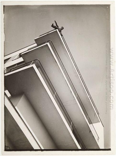 Xanti Schawinsky On A Bauhaus Balcony