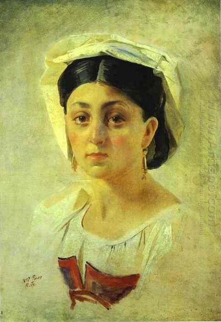 Young Italian Woman In A Folk Costume Study