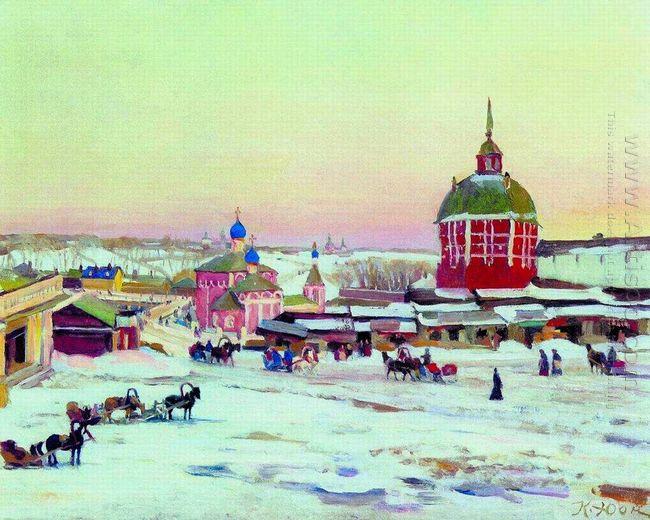 Zagorsk Market Square 1943