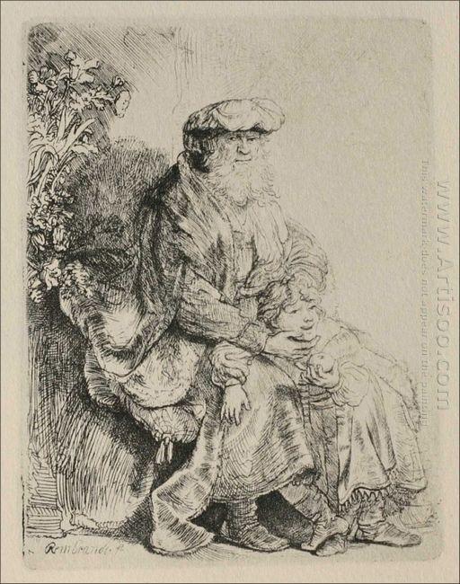 Abraham Caressing Isaac 1636