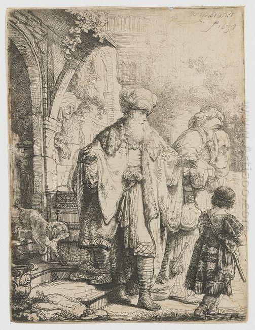 Abraham Dismissing Hagar 1637