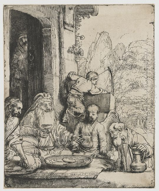 Abraham Entertaining The Angels 1656