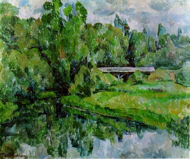 A Bridge The Vorya River Abramtsevo 1920