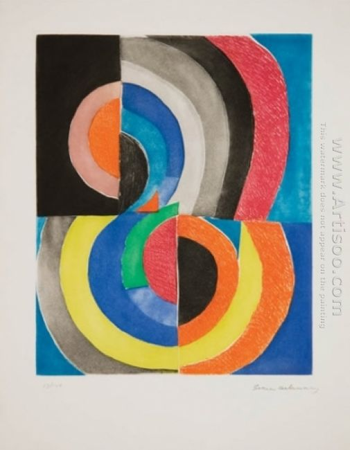 Abstract Composition With Semicircles