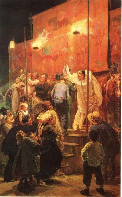 Acrobats Festival In A Paris Suburb 1877