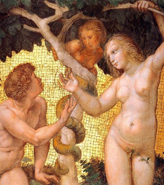 Adam And Eve From The Stanza Della Segnatura Detail 1511
