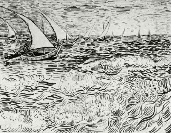 A Fishing Boat At Sea 1888 3