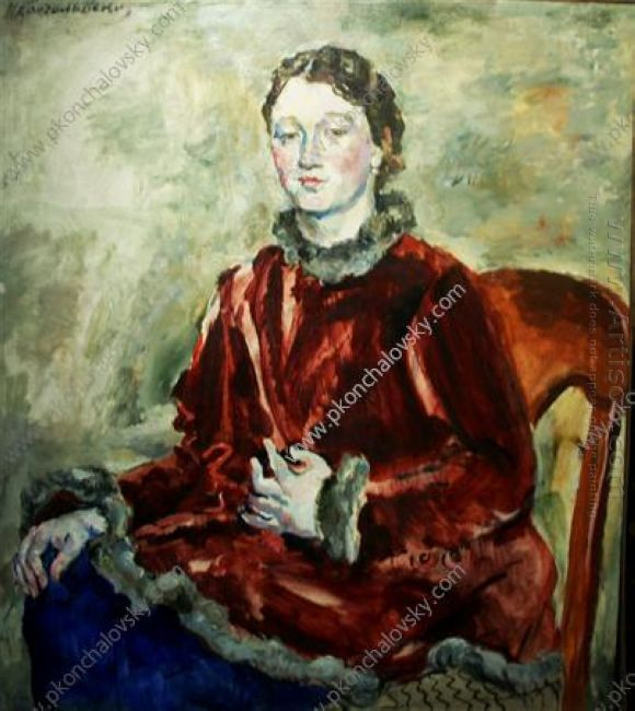 A Girl In A Velvet Coat 1928