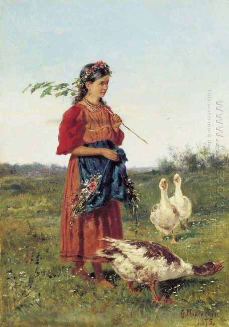 A Girl With Geese 1875