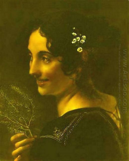 A Gypsy With A Branch Of Myrtle 1819