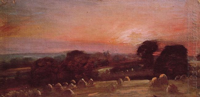 A Hayfield Near East Bergholt At Sunset 1812