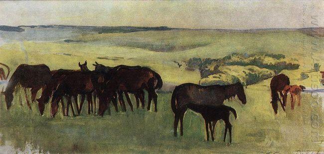 A Herd Of Horses 1909