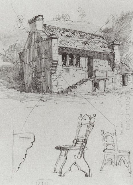 A House From A Trip To Germany 1872