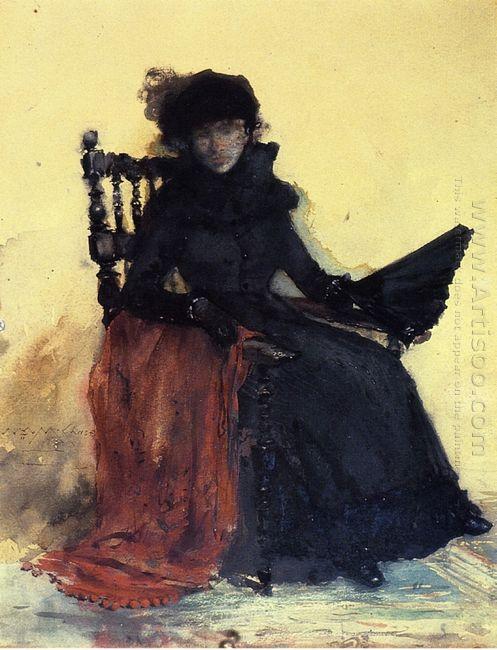 A Lady In Black Aka The Red Shawl