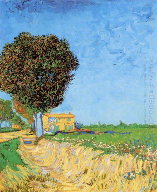 A Lane Near Arles 1888