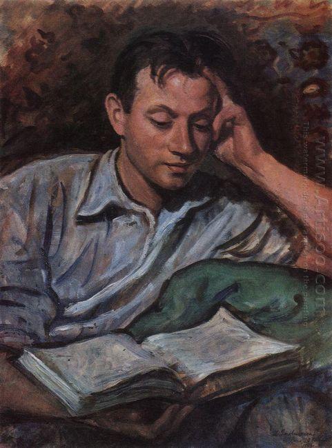 Alexander Serebryakov Reading A Book 1946