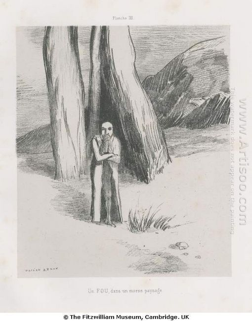 A Madman In A Dismal Landscape 1885