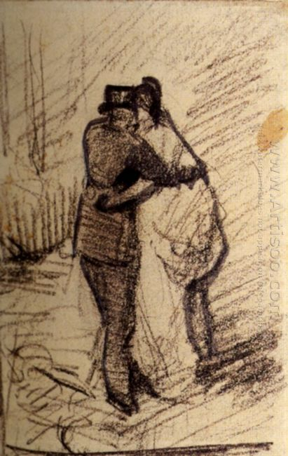 A Man And A Woman Seen From The Back 1886