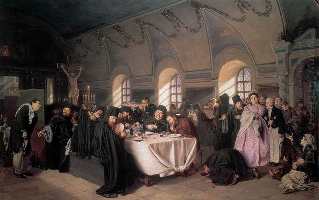 A Meal In The Monastery 1876