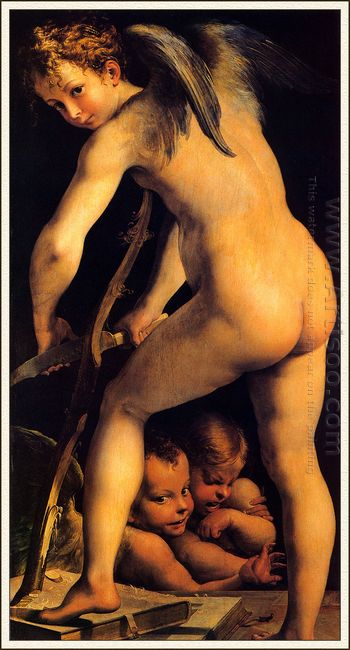 Amor Carving His Bow 1524