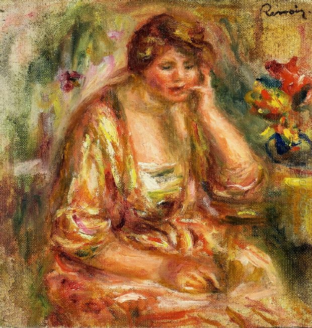 Andree In A Pink Dress 1917