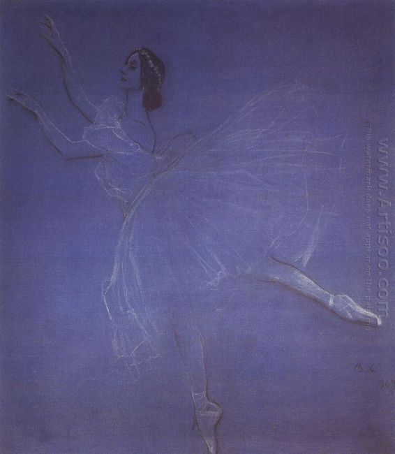 Anna Pavlova In The Ballet Sylphyde 1909