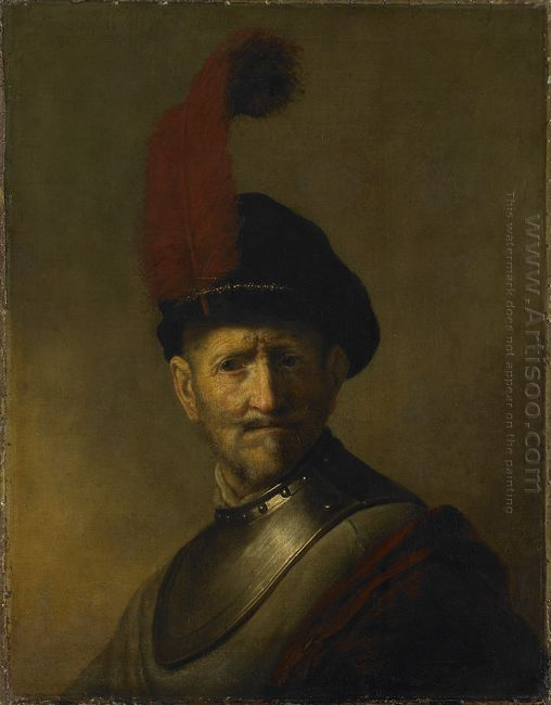 An Old Man In Military Costume Formerly Called Portrait Of Rembr