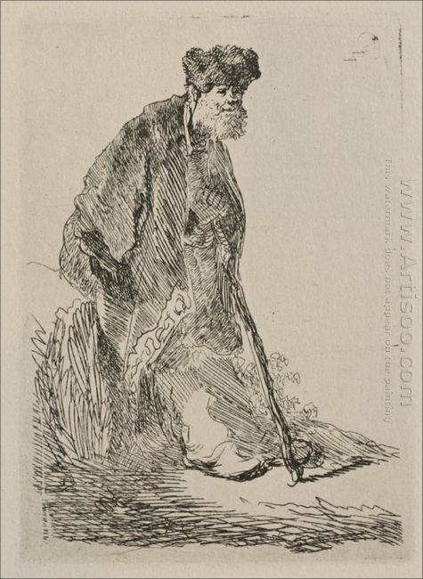 An Old Man With A Bushy Beard 1630