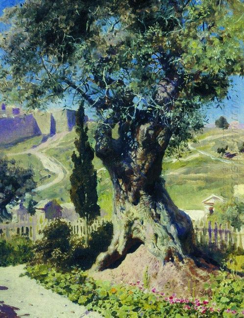 An Olive Tree In The Garden Of Gethsemane 1882