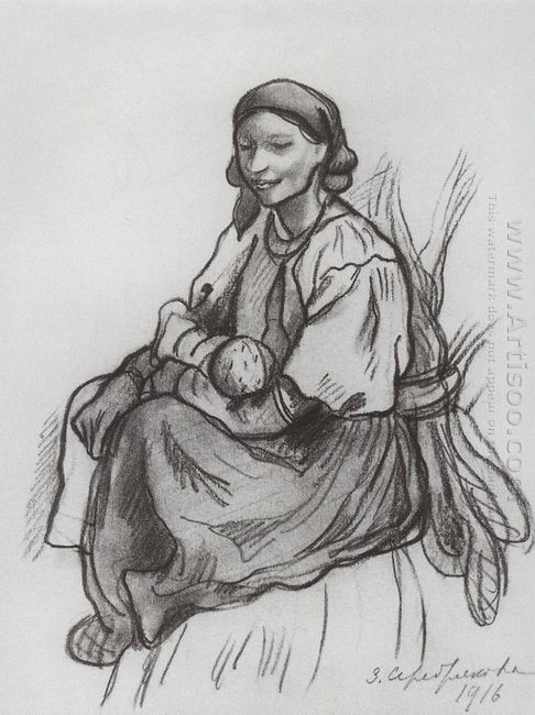 A Peasant Woman With A Child 1916