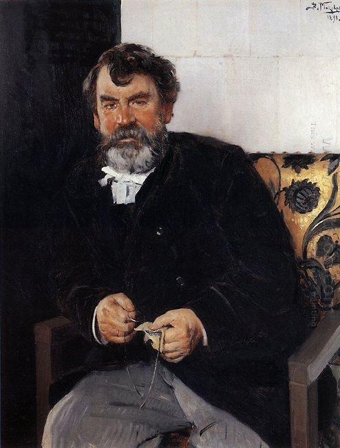 A Portrait Of E S Sorokin 1891