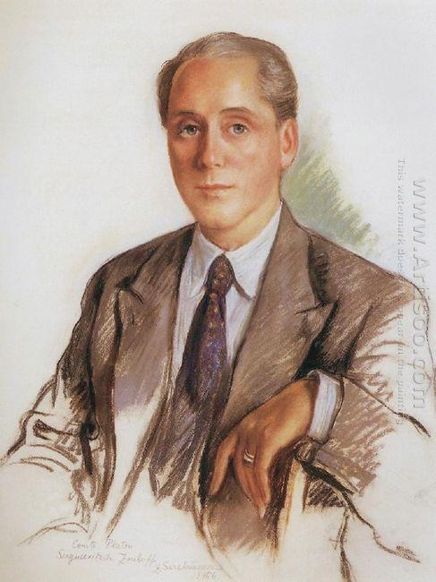 A Portrait Of Graf Platon Zubov 1956