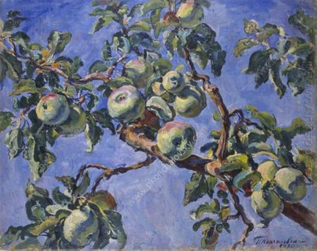 Apples Against The Blue Sky 1930 1
