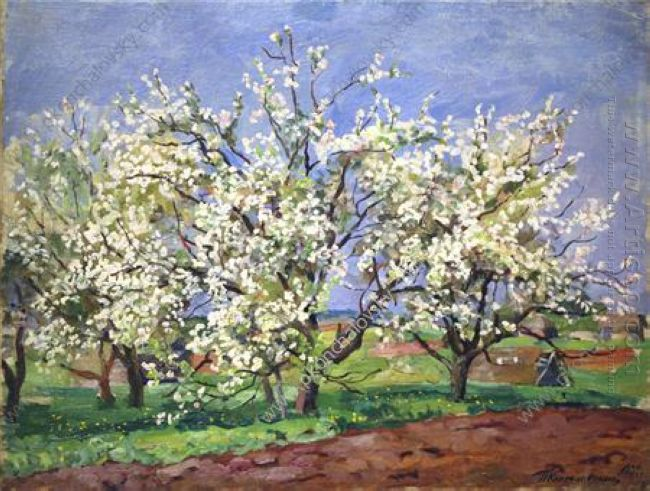 Apple Trees In Blossom Blue Day 1939