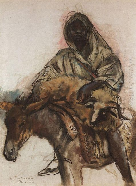 Arab On A Donkey 1932