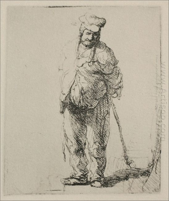 A Ragged Peasant With His Hands Behind Him 1635