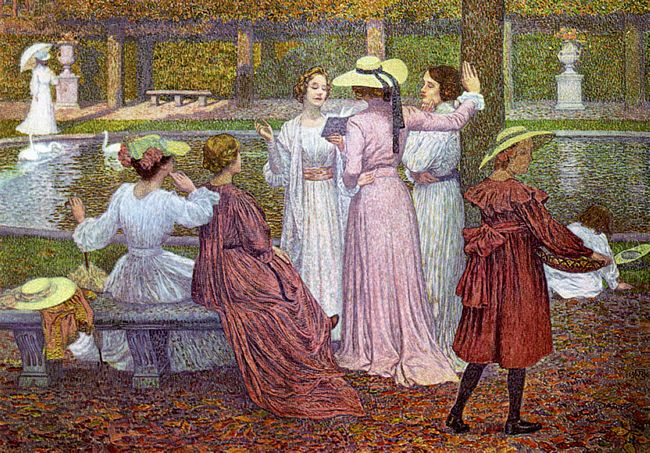 A Reading In The Garden 1902