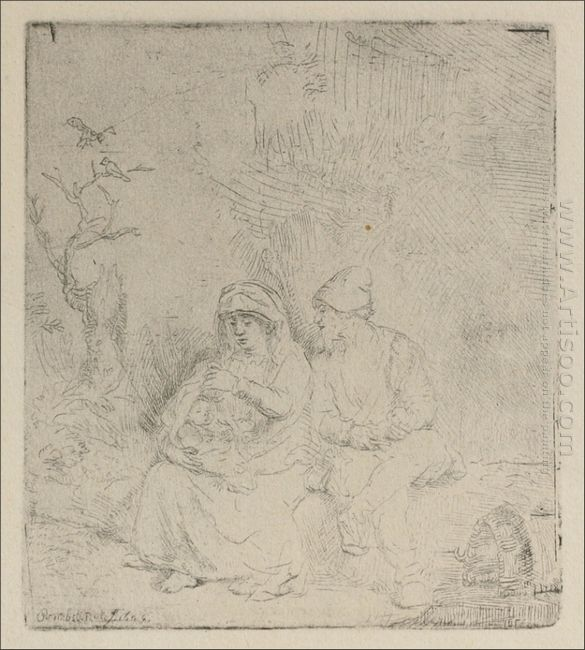 A Repose In Outline 1645