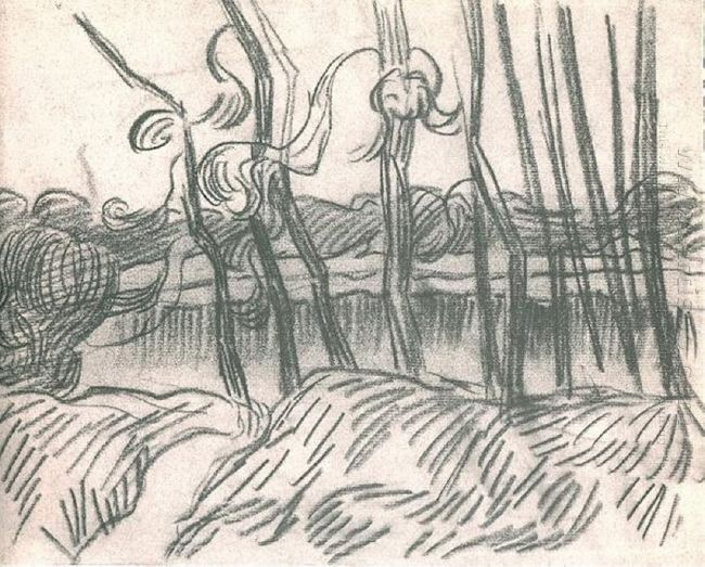 A Row Of Bare Trees 1889