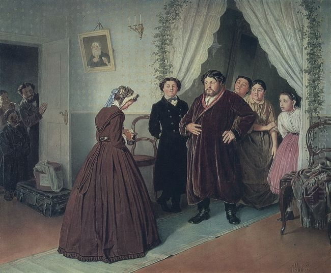 Arrival Of A New Governess In A Merchant House 1866