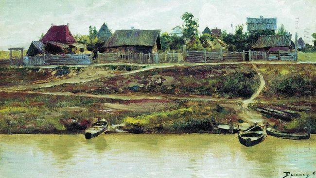 A Settlement Near Volga 1897