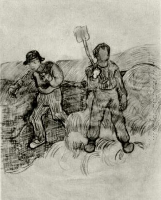 A Sower And A Man With A Spade 1890