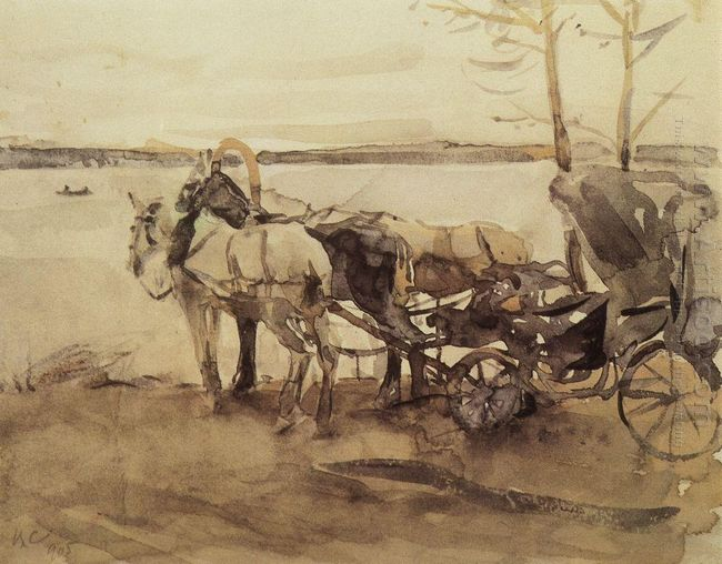 At The Ferry 1905