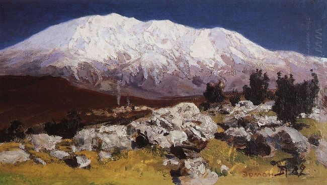 At The Foot Of Mount Hermon 1882